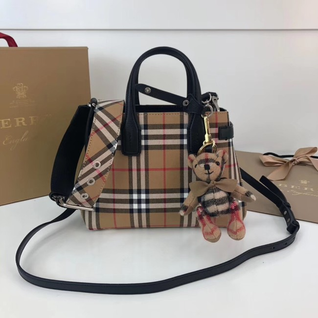BURBERRY Baby Banner checked cross-body bag 10443 black