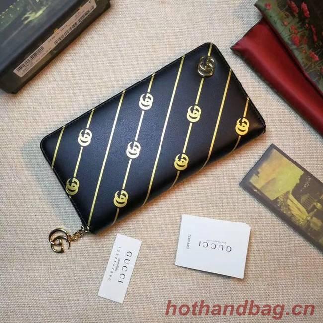 Gucci Leather zip around wallet 548073 black