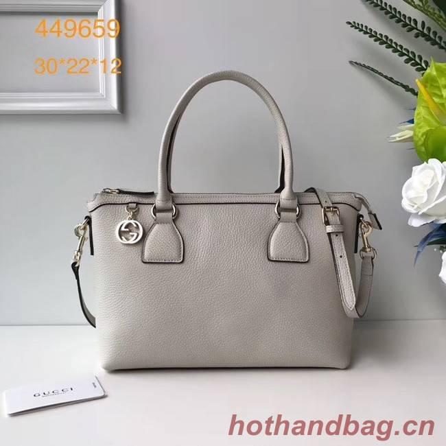 Gucci GG Classic Tote Bag 449659 white