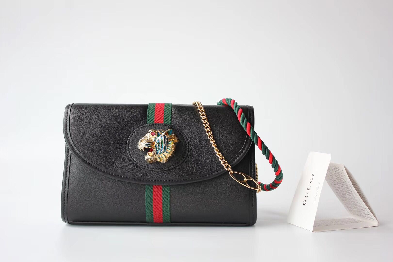 Gucci GG Leather Shoulder Bag 570145 black