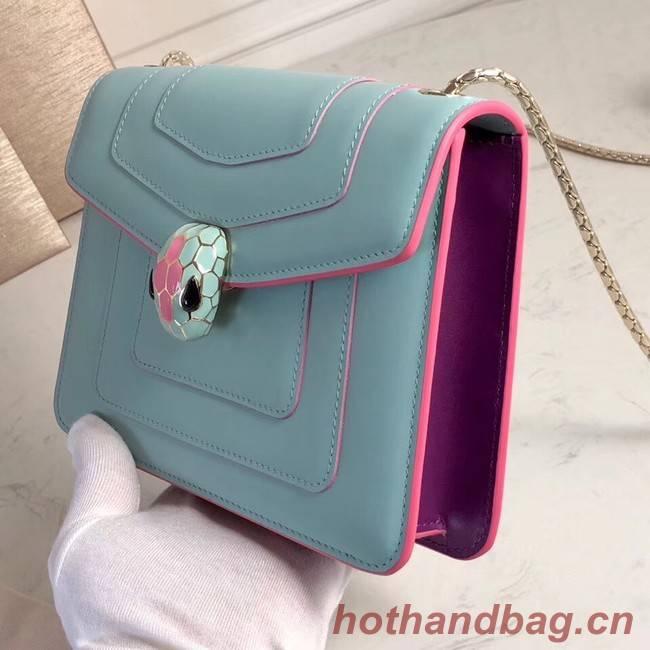 BVLGARI mini Shoulder Bag Calfskin Leather BG2283 light blue