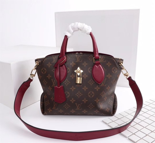 Louis Vuitton Monogram Canvas FLOWER ZIPPED TOTE BB M44350 Lie de Vin