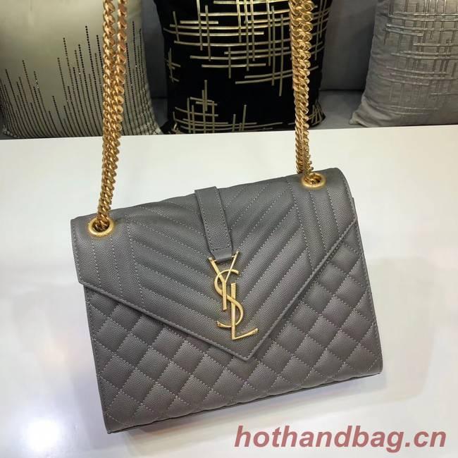 SAINT LAURENT Medium satchel 487206 grey