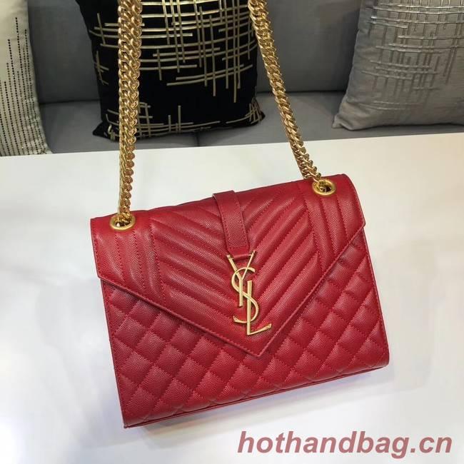 SAINT LAURENT Medium satchel 487206 red