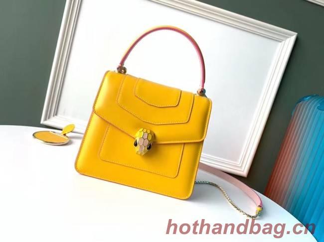 Bvlgari Serpenti Forever leather small crossbody bag 70736 yellow