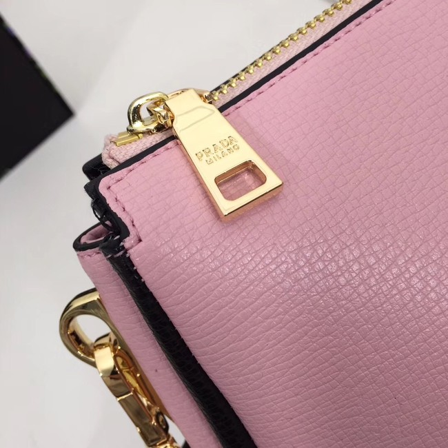 Prada leather shoulder bag 66136 pink