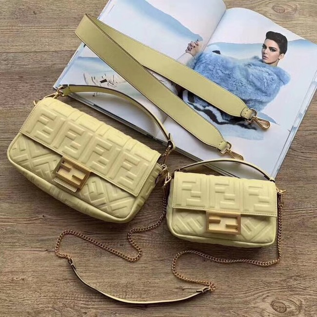 FENDI BAGUETTE Mini Shoulder Bag 8BS017 Beige