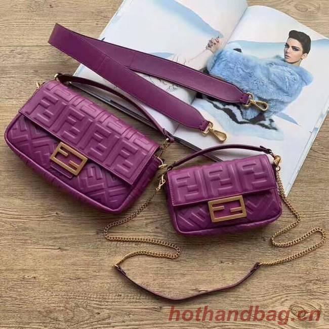 FENDI BAGUETTE Mini Shoulder Bag 8BS017 purple