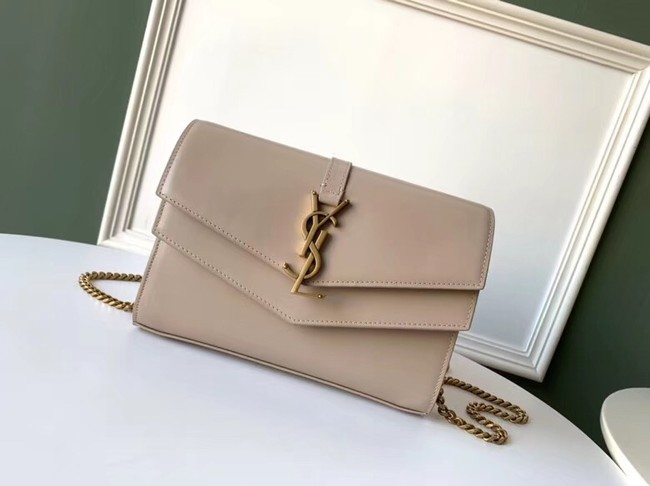SAINT LAURENT leather shoulder bag 36959 apricot