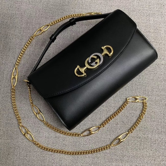GUCCI Zumi small leather shoulder bag 572375 black