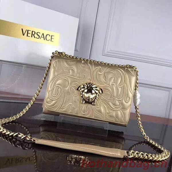 Versace Calfskin Leather Shoulder Bag VS178 Gold