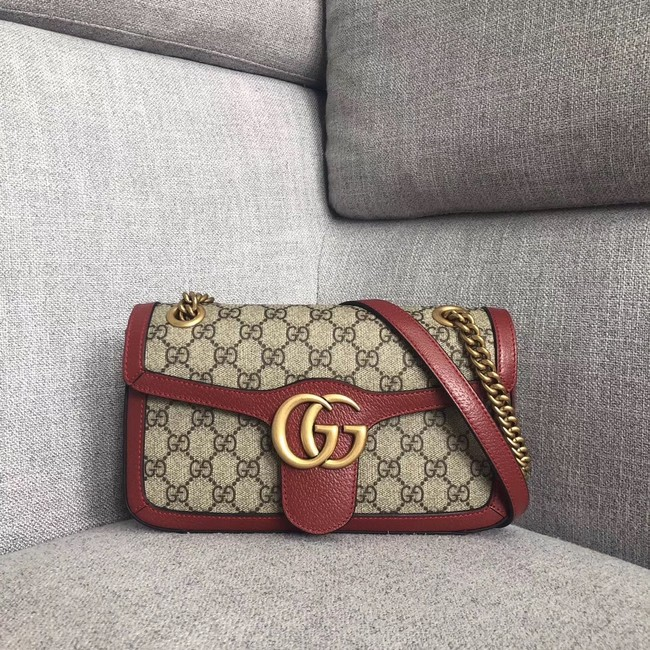 Gucci Ophidia GG Supreme small shoulder bag 443497 red