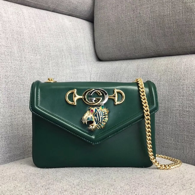 Gucci Rajah small shoulder bag 537243 Dark green