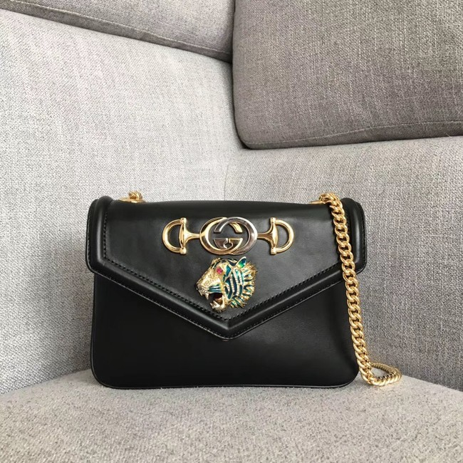 Gucci Rajah small shoulder bag 537243 black