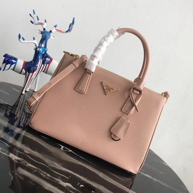 Prada Saffiano original Leather Tote Bag 1BA1801 Light Pink