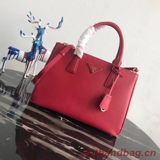 Prada Saffiano original Leather Tote Bag 1BA1801 red