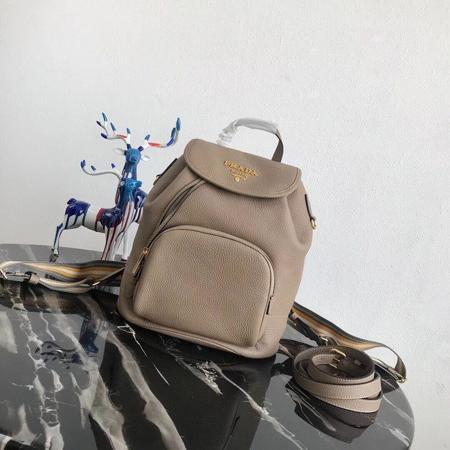 Prada original Leather backpack 1BZ035 apricot