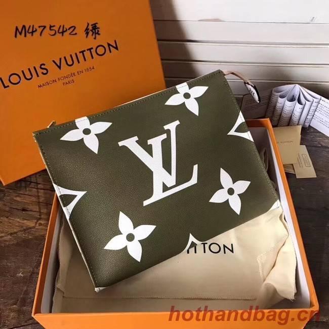 Louis Vuitton Monogram Pouch 26 m47542 Khaki