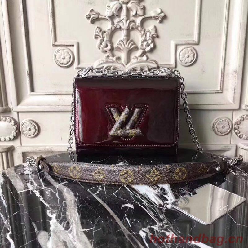 Louis vuitton TWIST Original leather small Shoulder Bag M54730 Bordeaux