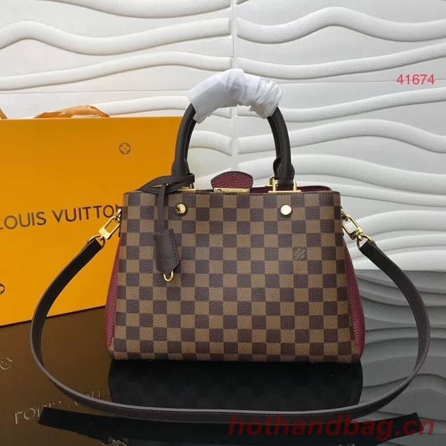 Louis Vuitton Original Damier Ebene Canvas M41674 Lie de Vin
