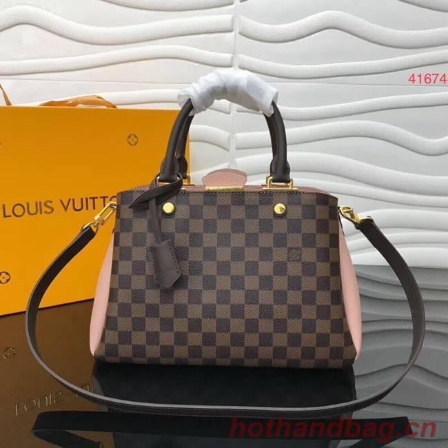 Louis Vuitton Original Damier Ebene Canvas M41674 pink