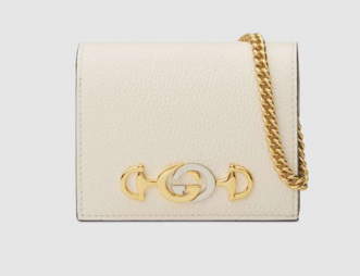 Gucci Zumi Card Holder 570660 White