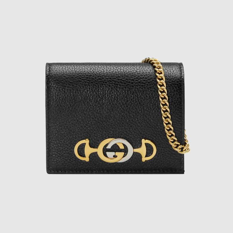 Gucci Zumi Card Holder 570660 Black