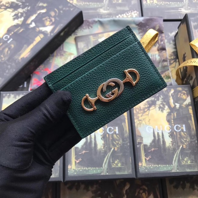 Gucci Zumi Card Holder 570679 green