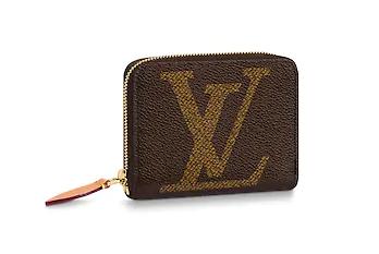 Louis vuitton original ZIPPY zipper pocket M67690 brown