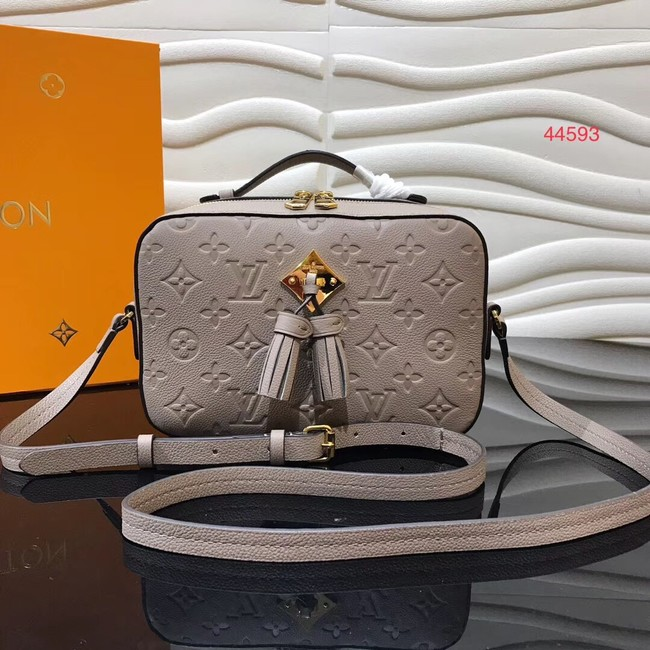 Louis vuitton original mongram empreinte SAINTONGE M44593 light gray