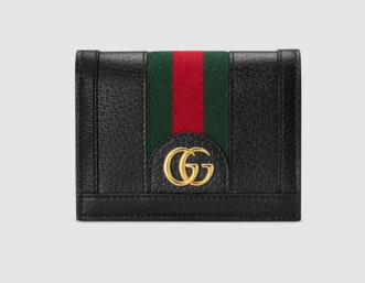 Gucci Ophidia leather wallet 523155 Black