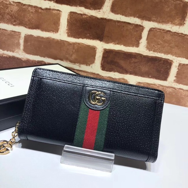 Gucci Ophidia leather zip wallet 523154 black