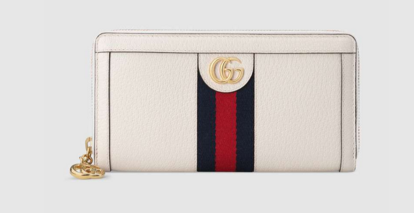 Gucci Ophidia leather zip wallet 523154 white