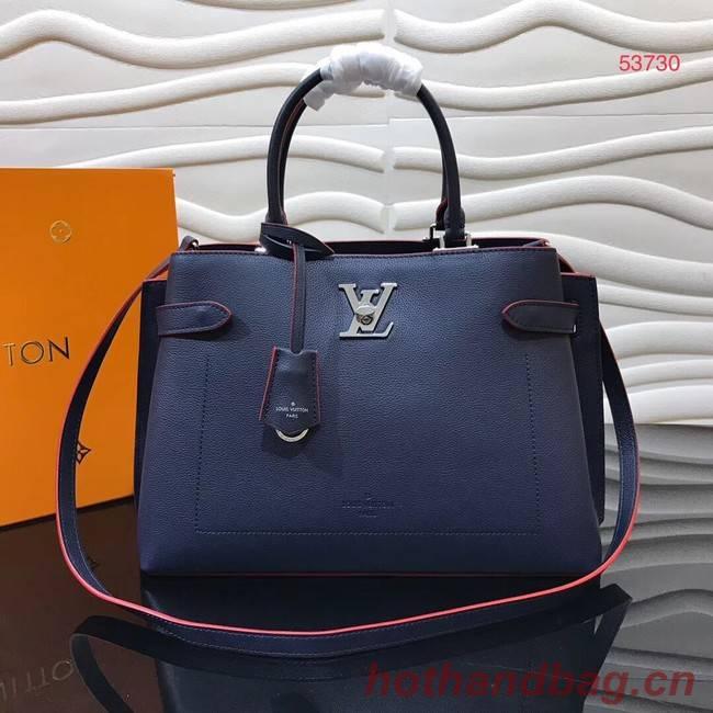 Louis Vuitton original LOCKME DAY M53730 Marine Rouge