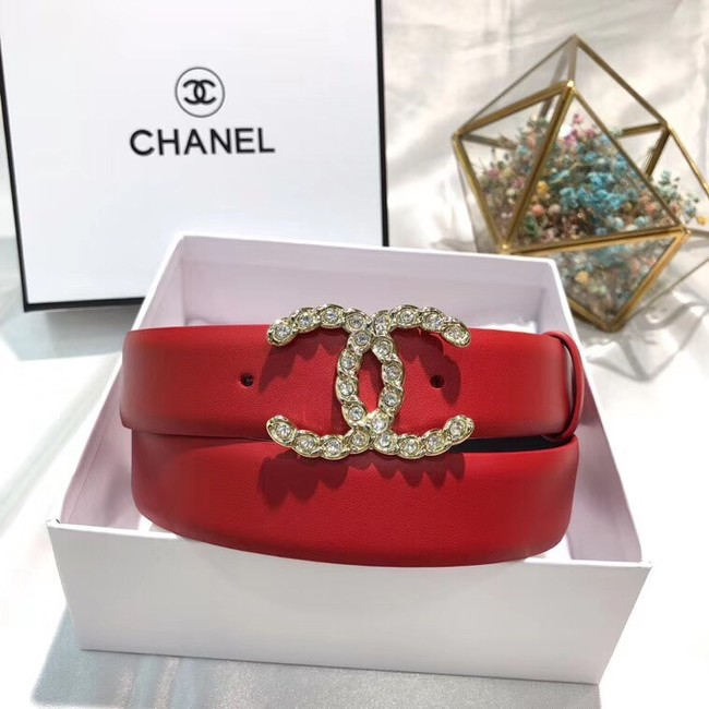 Chanel Calf Leather Belt Wide with 30mm 56589