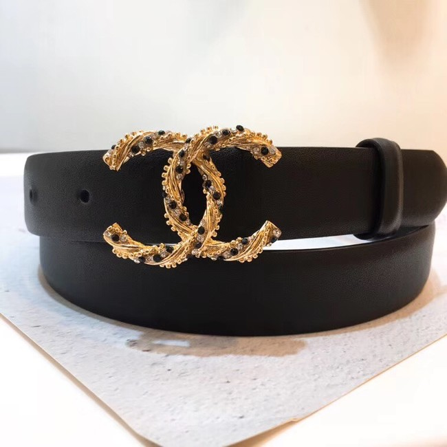 Chanel Calf Leather Belt Wide with 30mm 56591