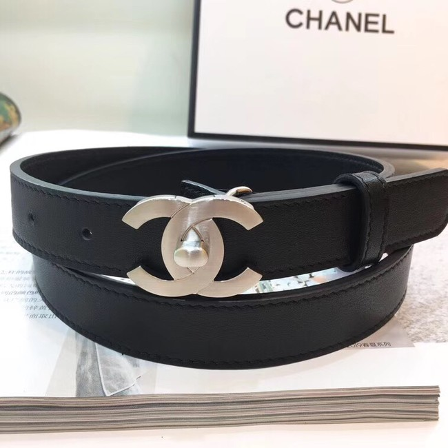 Chanel Calf Leather Belt Wide with 25mm 56605