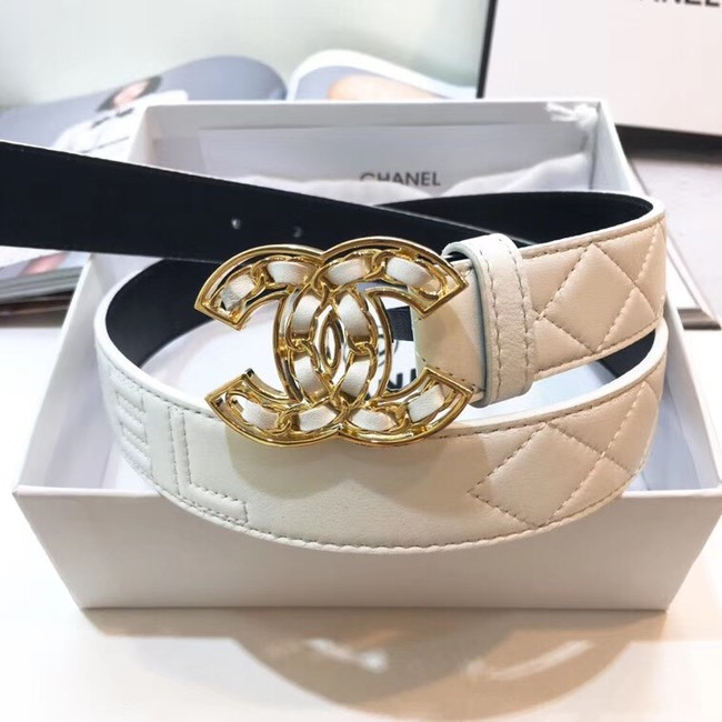 Chanel Calf Leather Belt Wide with 32mm 56607