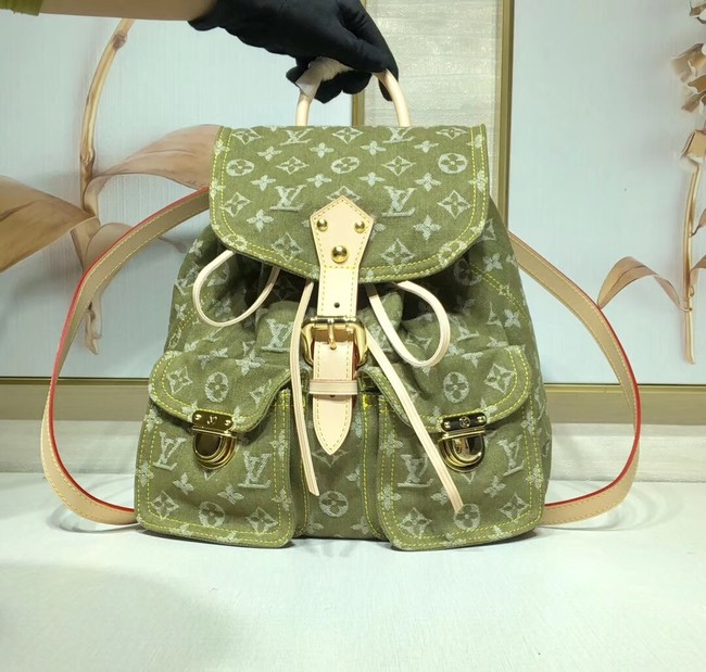 Louis Vuitton Denim Backpack M44460 green