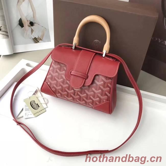 Goyard Calfskin Leather Mini Tote Bag 9955 Red