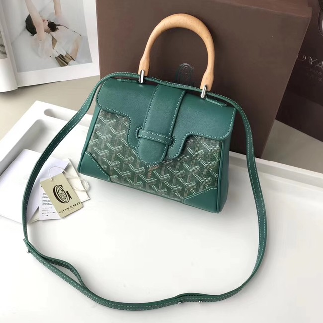 Goyard Calfskin Leather Mini Tote Bag 9955 green