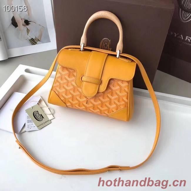 Goyard Calfskin Leather Mini Tote Bag 9955 yellow