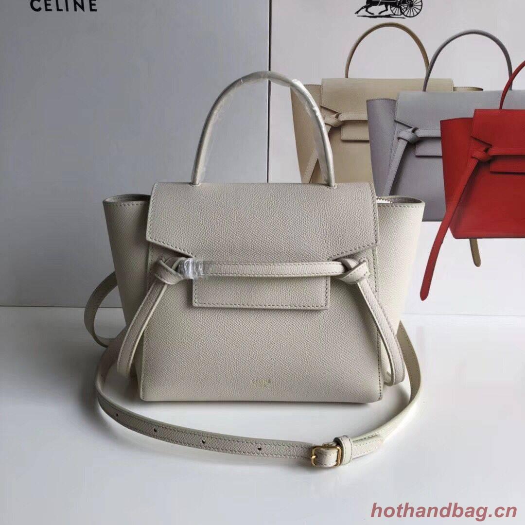 Celine NANO BELT BAG IN GRAINED CALFSKIN 99970 Offwhite