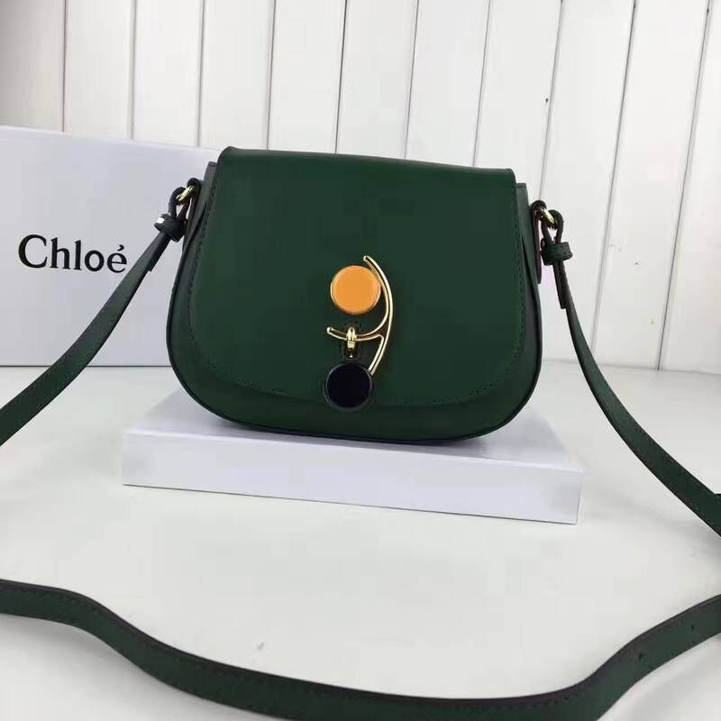 CHLOE leather cross-body bag 3S199 green
