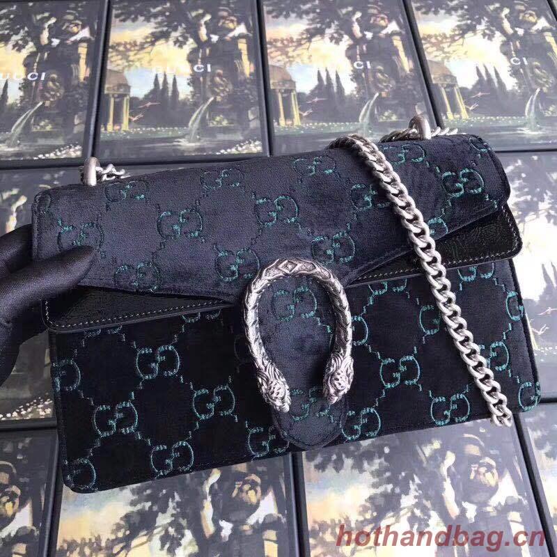 Gucci Dionysus GG velvet small shoulder bag 400249 black