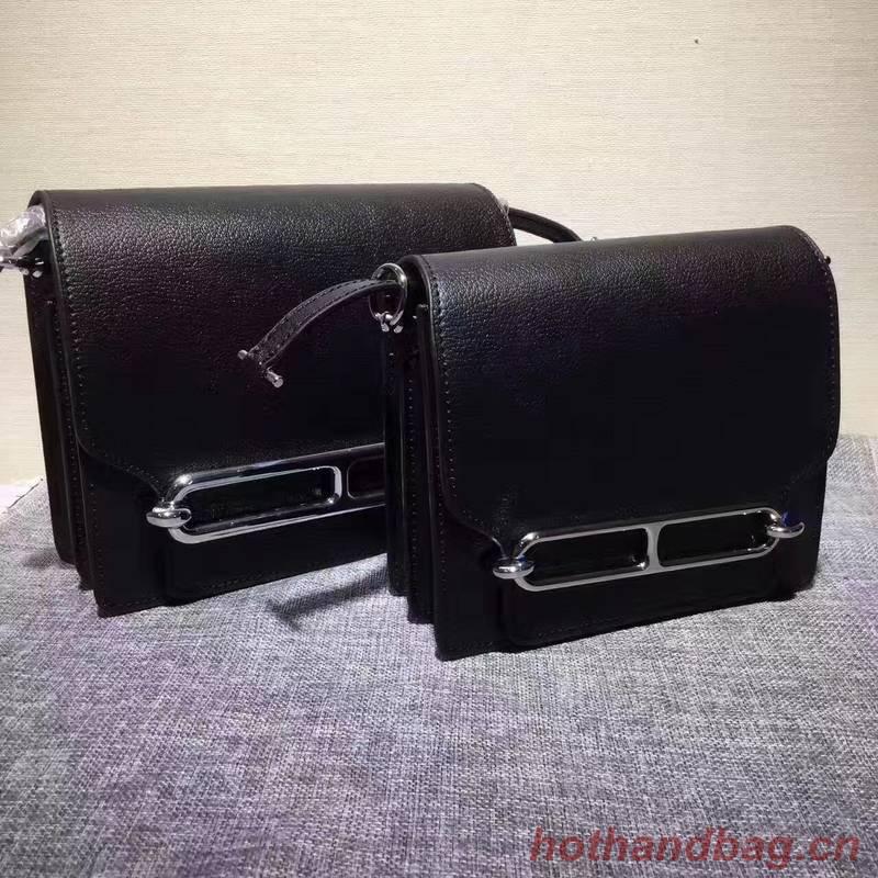 Hermes Calfskin Leather H1519 Black