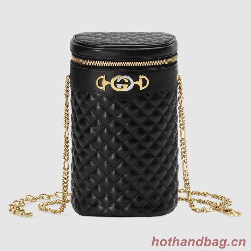 Gucci Quilted leather belt bag 572298 black