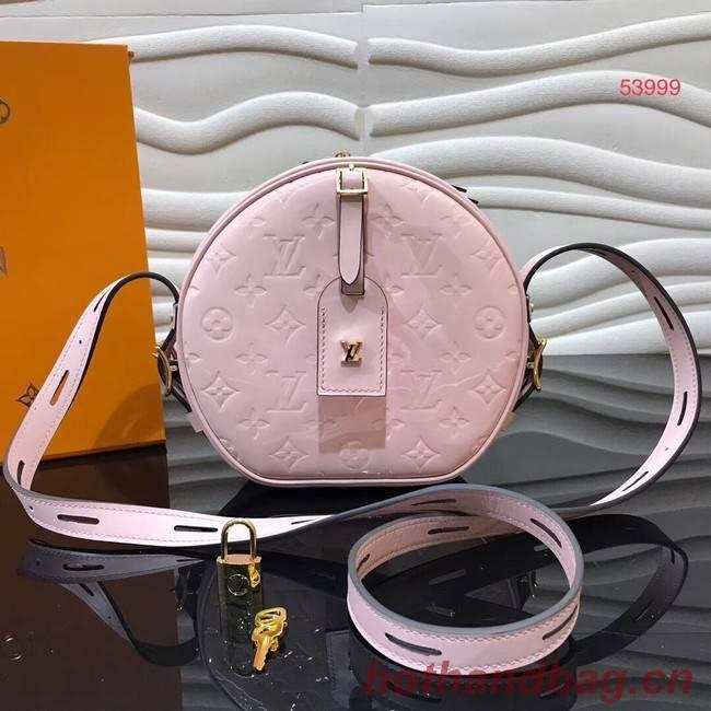 Louis vuitton original Monogam vernis BOITE CHAPEAU SOUPLE M53999 pink