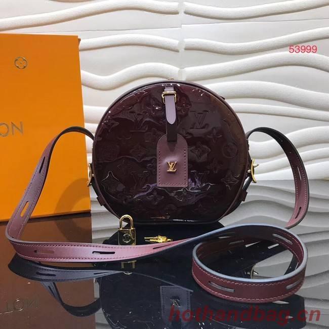 Louis vuitton original Monogam vernis BOITE CHAPEAU SOUPLE M53999 purplish
