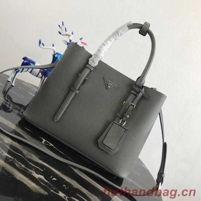 Prada Saffiano original Leather Tote Bag BN2838 Khaki